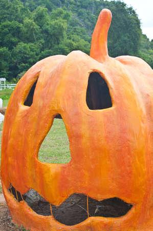 Halloween Pumpkin statue outdoor Stock Photo - 15867699