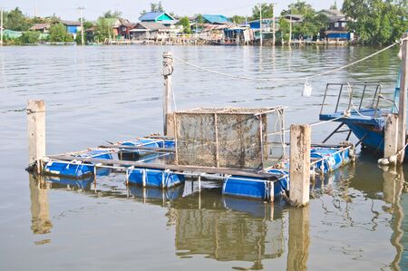 Fish farm in Thailand photo