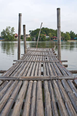 Bamboo wooden bridge photo