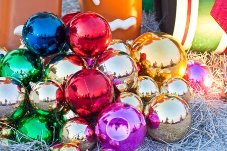 Christmas decorations - colorful balls photo