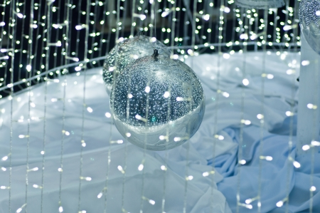 Big silver ball ,christmas symbol photo