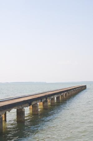 Concrete jetty photo