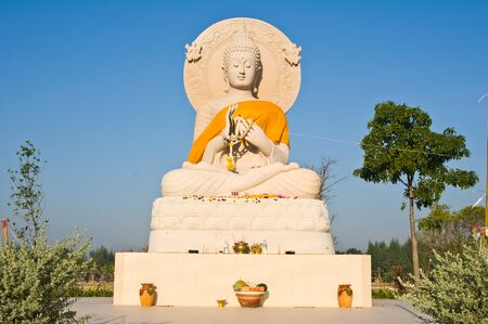 stone buddha: Big stone buddha Stock Photo