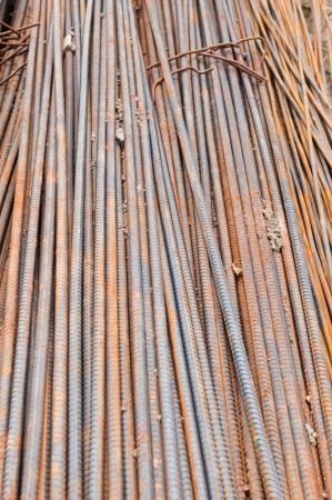 Reinforcing steel bars photo