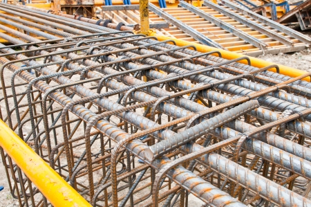 Steel bars mesh reinforcement  Stock Photo