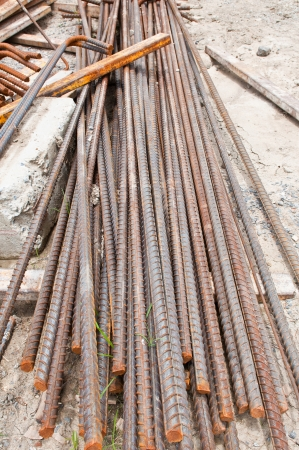 Reinforcing steel rods photo