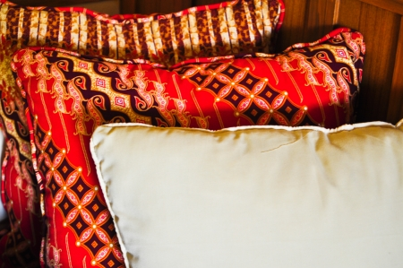 Backrest beautiful pillows photo