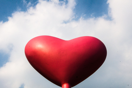 Love Heart Balloon in the Blue Sky  photo