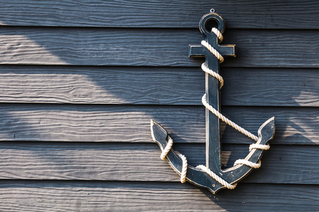 Anchor hanging on the wall