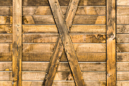 Old wooden doors of warehouse  photo