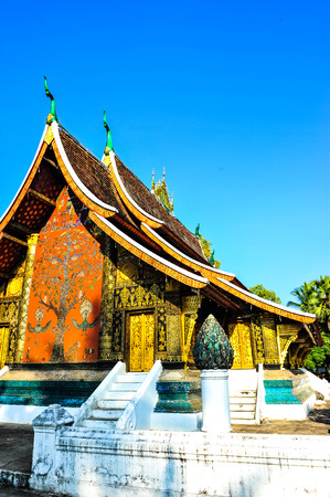 Wat xiang thong againt blue sky,Beautiful temples in Laos photo