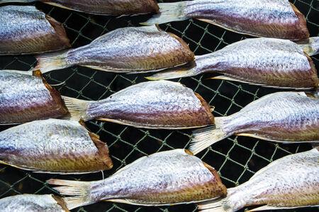 Dried salted fish photo