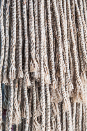 frayed: Closeup frayed rope
