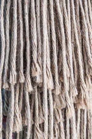 unwound: Closeup frayed rope