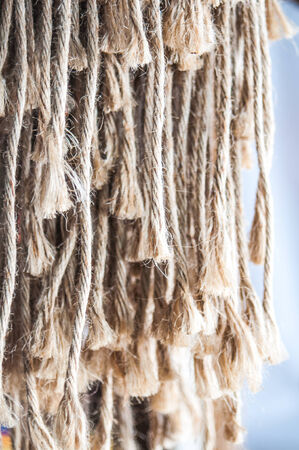 unwound: Piece of rope frayed Stock Photo