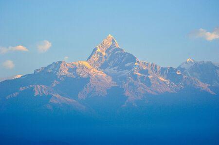 pokhara: Mountains peak in Pokhara,Nepal