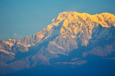 apogee: Sunlight effect on top of the mountain in Pokara ,Nepal