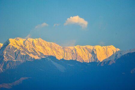 apogee: Big snow mountains in Pokhara,Nepal
