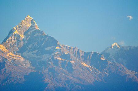 apogee: Machapuchare mountains in Pokhara,Nepal