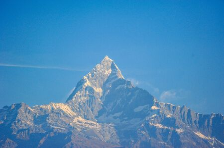 pokhara: Snow Covered Top Of The Big Mountains in Pokhara ,Nepal