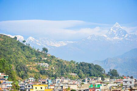 apogee: Pokhara city and big snow mountains,Nepal