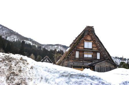 shirakawa go: Old blurred house in Shirakawa Go village, Japan