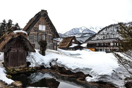 shirakawa go: Old wooden house in Shirakawa Go village,World heritage of Japan