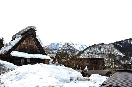 shirakawa go: Acient house in Shirakawa Go village ,Japan