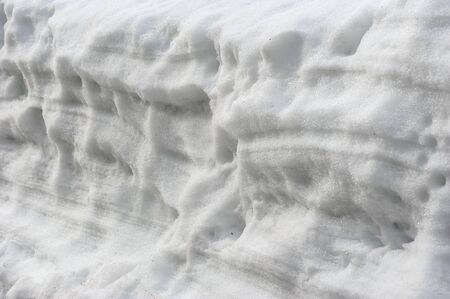 shrinkage: A layer of snow walls
