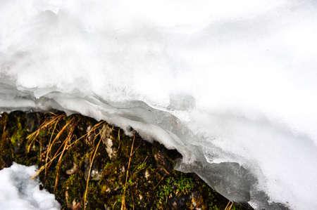 shrinkage: The melting of snow