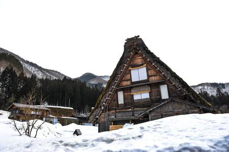 shrinkage: Historic Villages of Gokayama in winter season