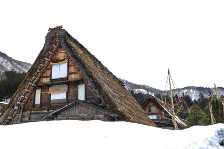 shrinkage: Historic house of Shirakawa-go and Gokayama winter