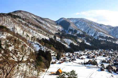 shirakawa go: Beautiful sunlight on the World Heritage Shirakawa go village