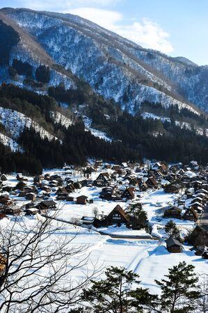 shirakawa go: View of shirakawa Go village in Japan