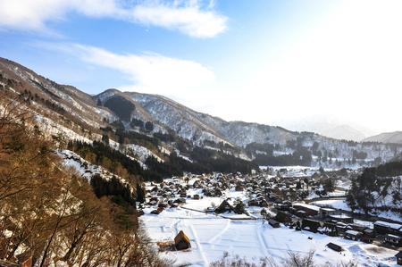 shirakawa go: Historic Village of Shirakawa Go in winter, Japan