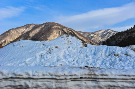 Silver color of snowy mountains