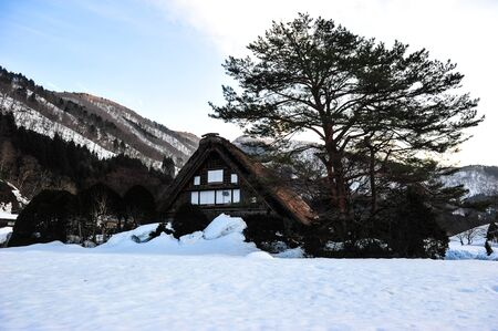 shrinkage: Winter season in country of Japan Editorial