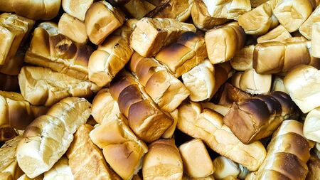 Pile of baked bread Stock Photo