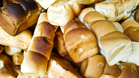 Brown color of breads Stock Photo