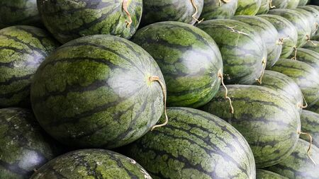 Close up to the watermelon Stock Photo