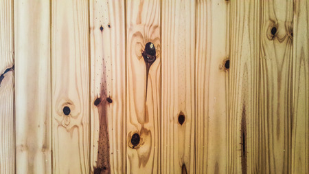 Pine wood wall with lighing effecting