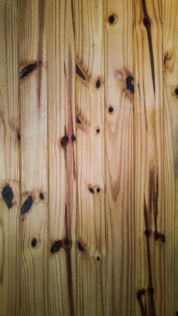 Close up to the pine wooden wall Stock Photo
