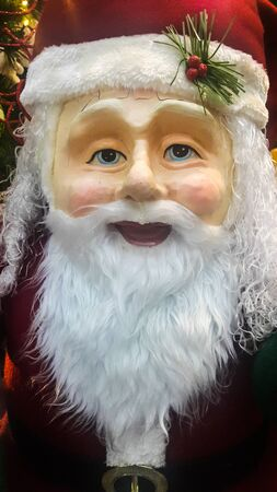 Portrait face of santa Claus symbol of christmas day
