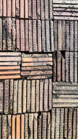 Baked clay floor Stock Photo