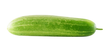 Cucumber isolated over white background  photo