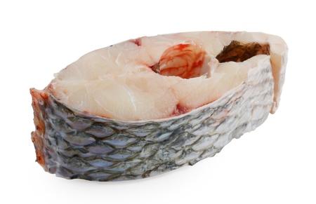 Fresh fish isolated over white background photo