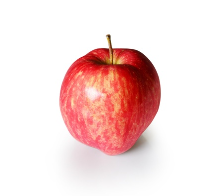 Single red apple isolated on white with clipping path Stock Photo - 21888238