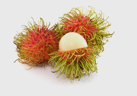 Fresh rambutan sweet delicious fruit of Thailand photo