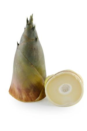 Bamboo shoot isolated on white photo