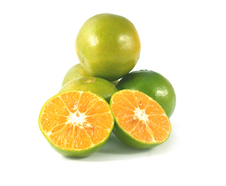 Orange fruit isolated on white background cutout photo